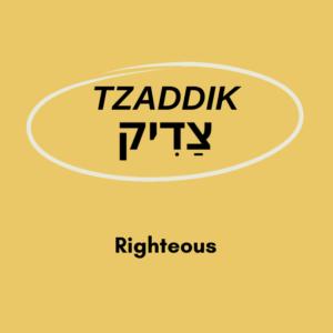 Tzaddik meaning